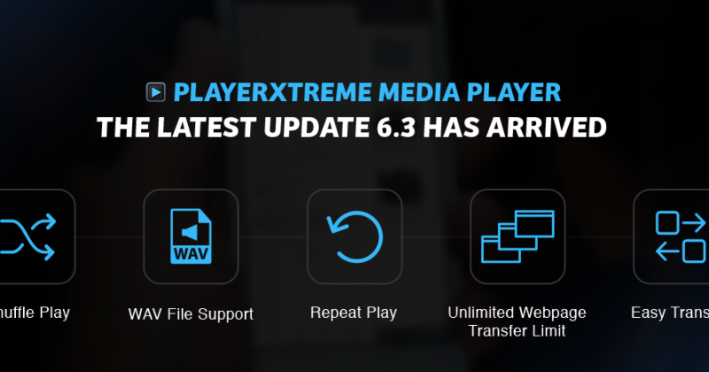 PlayerXtreme version 6.3 has arrived
